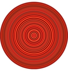 Concentric pipes circular shape in multiple red vector