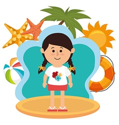 Summer vacations and travel vector