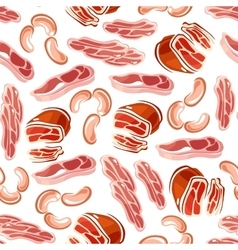 Meat products seamless pattern for butchery design vector