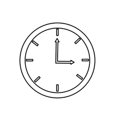 Analog clock  over white vector