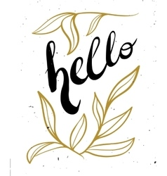 Hand lettering calligraphy black and gold style vector