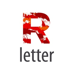 Abstract logo letter r made of colorful splash vector