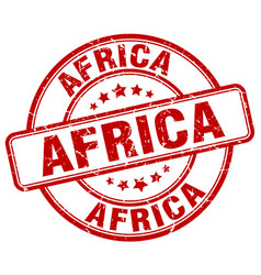 Africa stamp vector