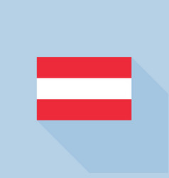 austria flag in official proportions vector image vector image