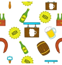 Beer pattern cartoon style vector