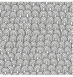 Black and white hand drawn pattern for coloring vector