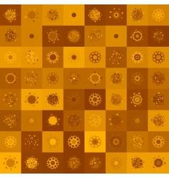 Christmas deer seamless EPS 8 vector image vector image
