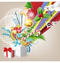 Christmas present background vector