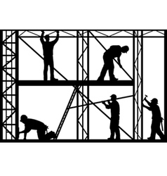 construction workers vector image vector image