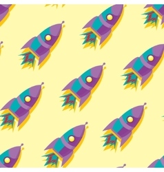 Cute and colorful space seamless pattern vector image