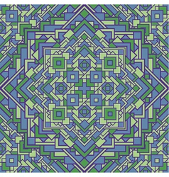 Ethnic seamless mosaic pattern vector