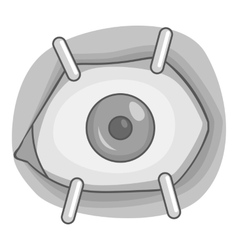 Eye procedure icon gray monochrome style vector
