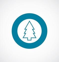 Fir-tree icon bold blue circle border vector