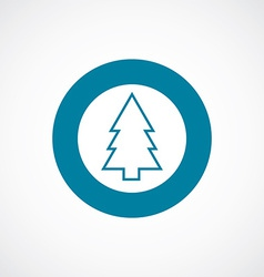 fir-tree icon bold blue circle border vector image vector image