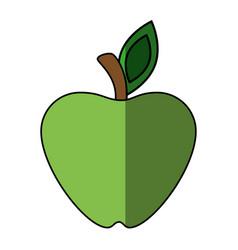 Green apple fruit vector