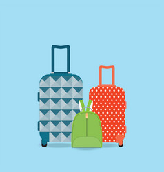 Group of baggage vector