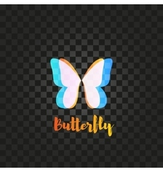 Isolated pink and blue butterfly logo vector