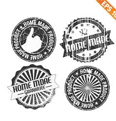 Label stitch sticker tag handmade - - EPS10 vector image