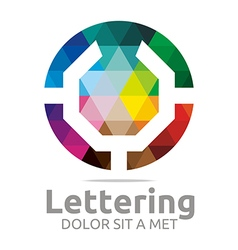Lettering u rainbow alphabet design vector