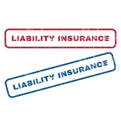 Liability insurance rubber stamps vector