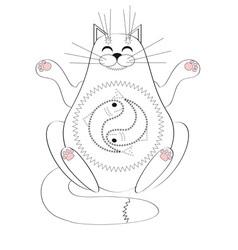 meditating vector image vector image