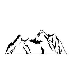 Mountain rock nature landscape tourism vector