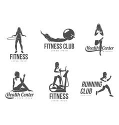 Muslim aerobic logo vector