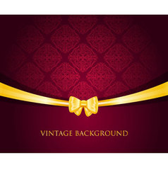 ribbon vintage vector image