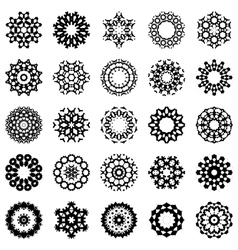 set of abstract round design elements vector image