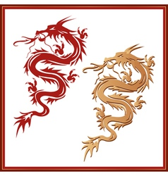 Set of dragons - symbol of oriental culture vector image