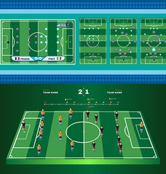 Soccer game strategies vector