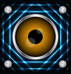 Technology digital cyber security eye circle vector
