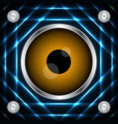 Technology digital cyber security eye circle vector