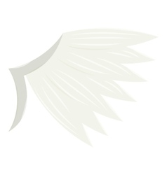 White wing icon cartoon style vector