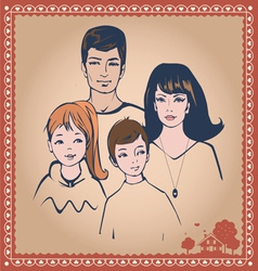 Family post card vector