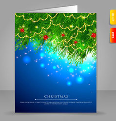Xmas card branch vector