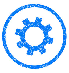 Gear rounded grainy icon vector