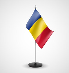 Table flag of romania vector