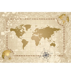 Antique world map vector