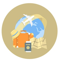 Traveling concept vector