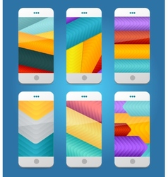 Mobile Phones Arrows Backgrounds vector image