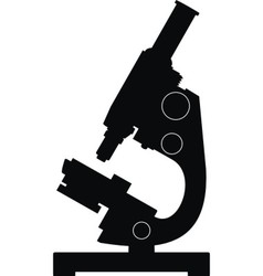 Silhouette of microscope vector