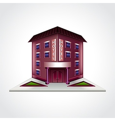 Hotel building isolated vector