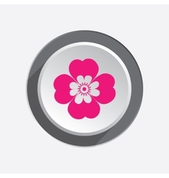 Chamomile flower icons floral symbol circle vector