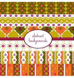 summer vintage pattern vector image