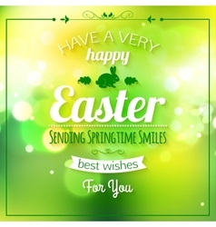 Happy easter typographical background easter - vector