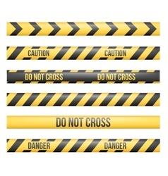 Danger tape lines vector
