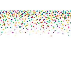 abstract colorful background with falling confetti vector image vector image