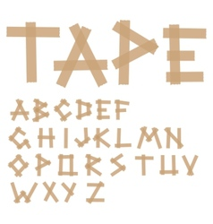 adhesive tape alphabet vector image