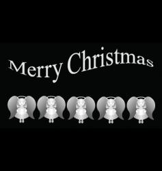 Angels merry christmas vector
